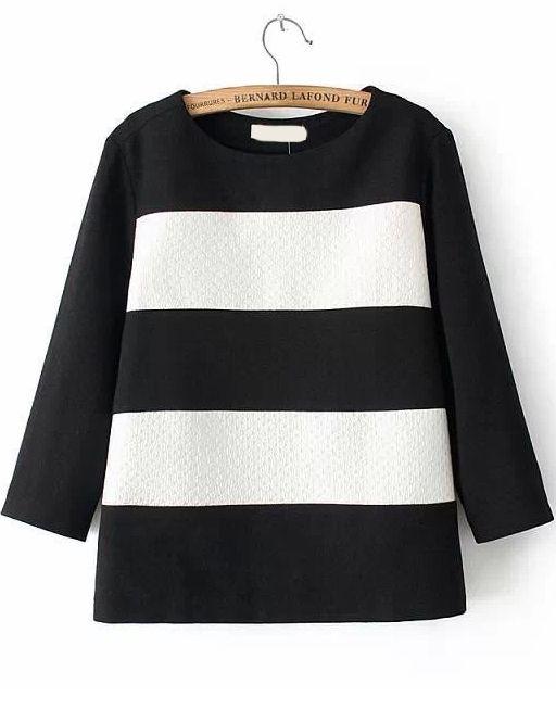 Colour-block Half Sleeve Blouse 14.83