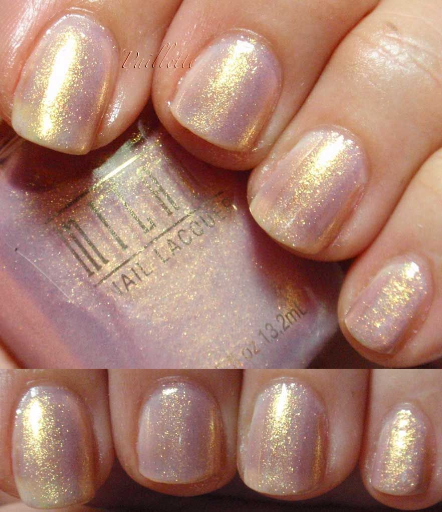 rose pearl nails