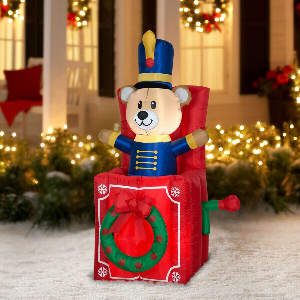 1.8M Christmas Giant Inflatable LED Light Up Santa Claus Decoration Outdoor Xmas