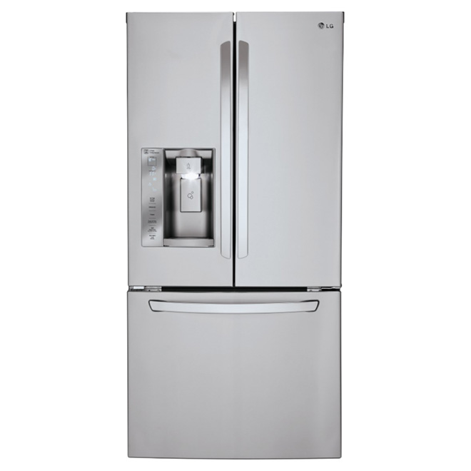 Lg French Doors Refrigerator 24 2 Cu Ft Stainless Lfxs24623s