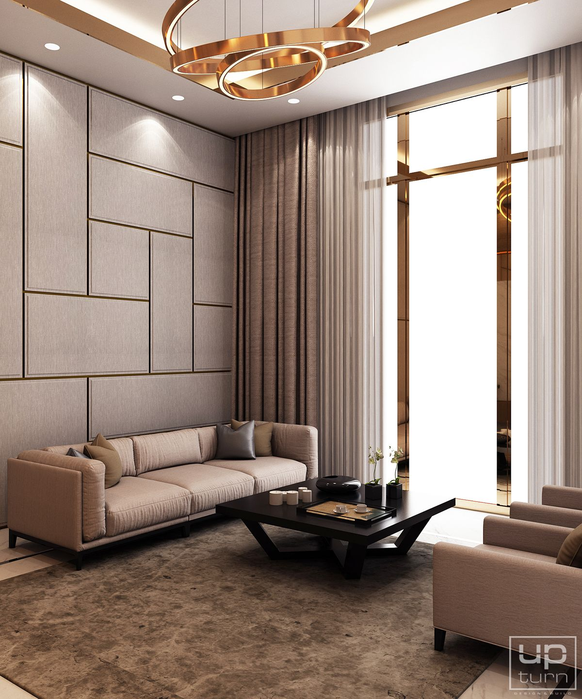 Modern Interior Design For House: Luxury Modern Villa - Qatar On Behance