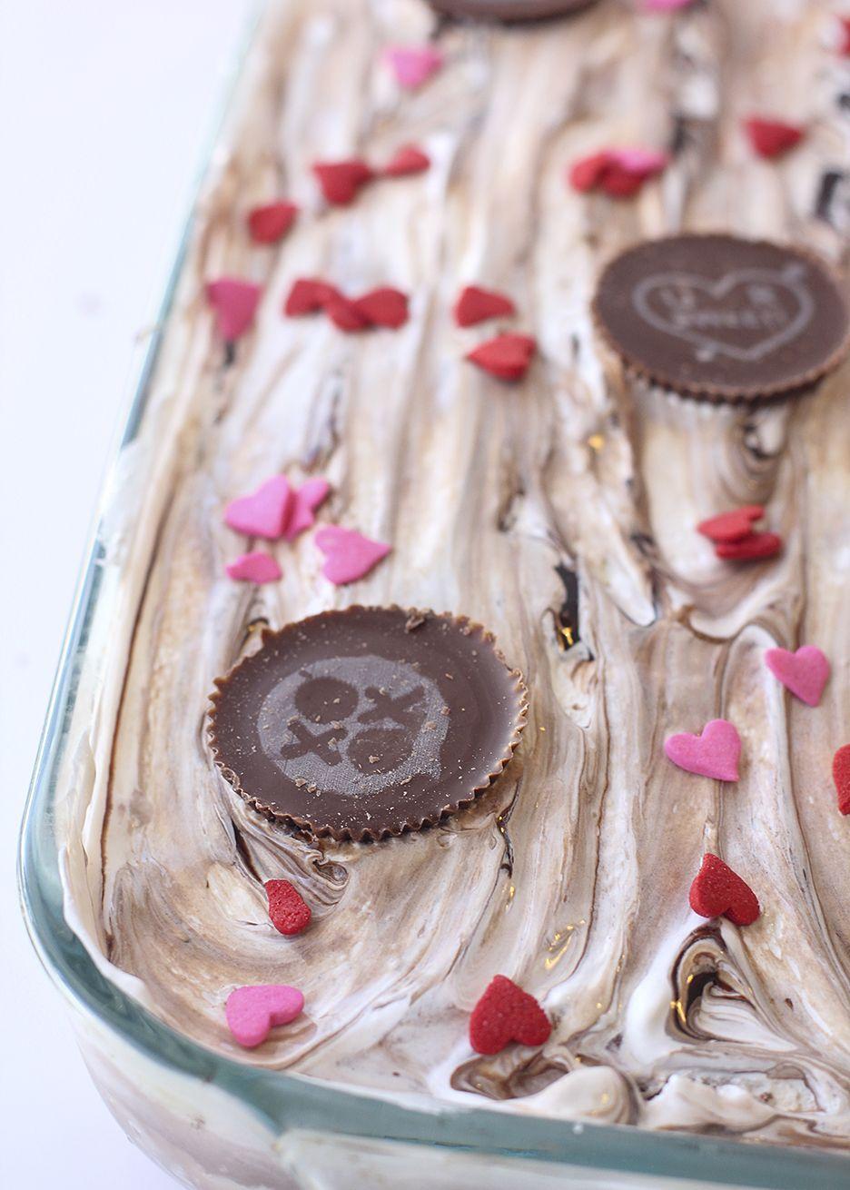 Double chocolate reeses ice cream cake yum