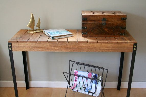 Rustic Reclaimed Wood Entry Table Console Table Writing Desk Handmade Lightly Sanded To Expose Rus Wood Entry Table Salvaged Wood Furniture Rustic Industrial