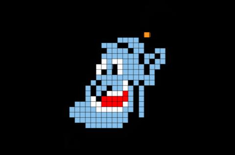 Aladdin Genie Pixel Art Pixel Art Minecraft Pixel Art