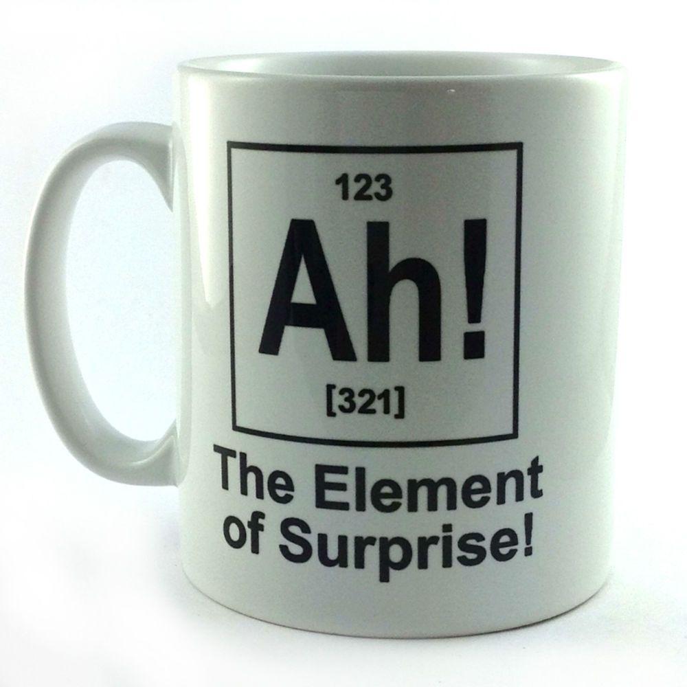 Ah! element of surprise gift cup mug present science teacher ...