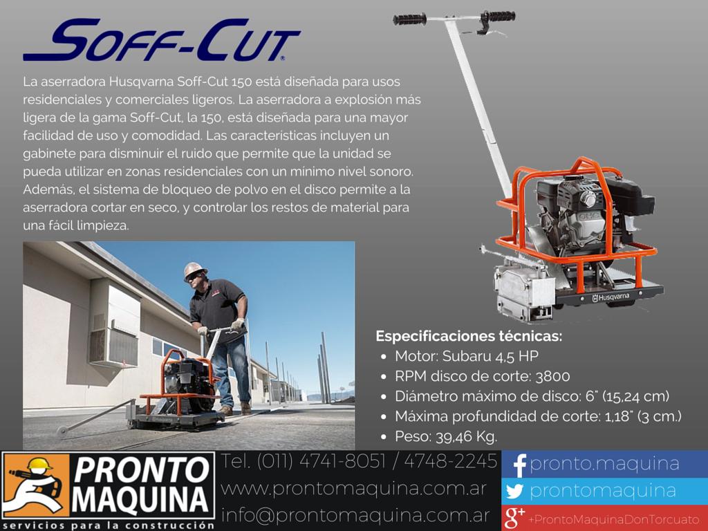 Husqvarna #Soff-cut 150 ahora en Pronto Máquina!!! Consultanos ...
