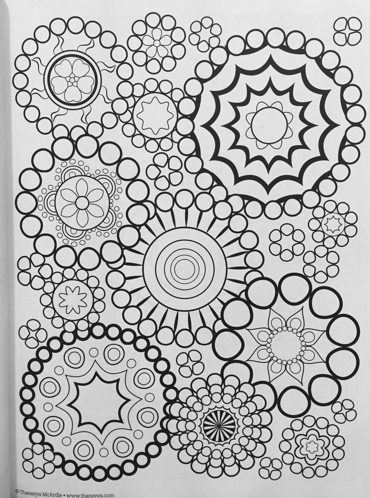 Groovy Abstract Coloring Book Design Originals Is Fun Thaneeya McArdle