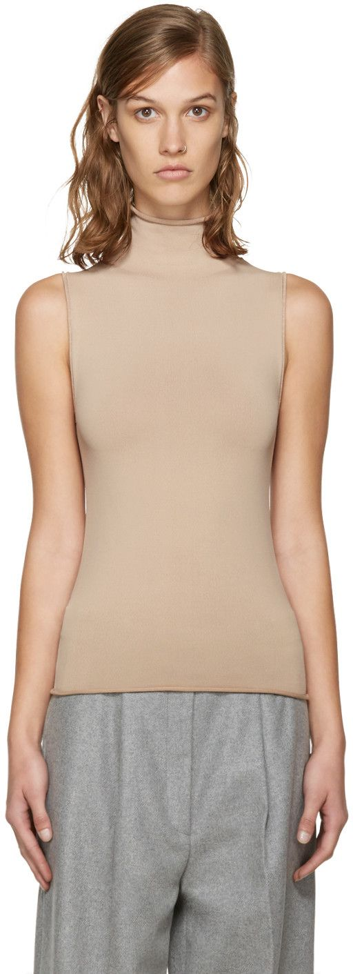 ACNE STUDIOS Beige Rila Turtleneck. #acnestudios #cloth #turtleneck
