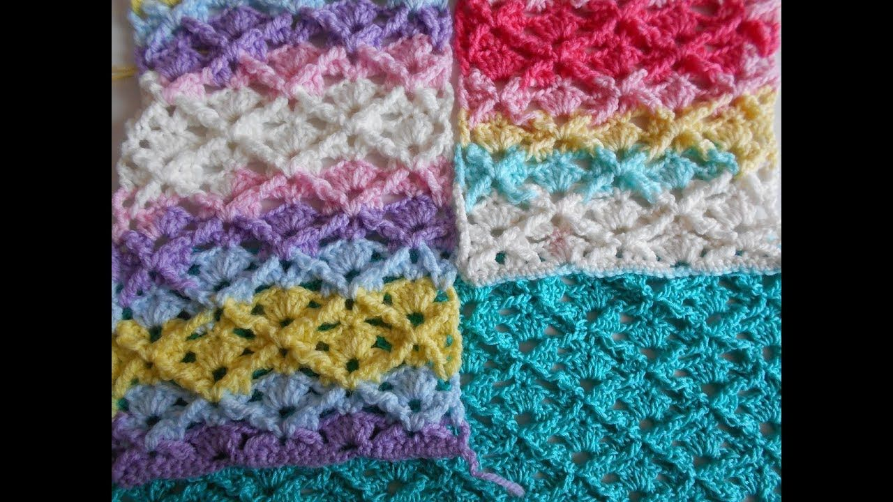 Punto en 3D a crochet facil y rapido paso a paso / Point in crochet ...