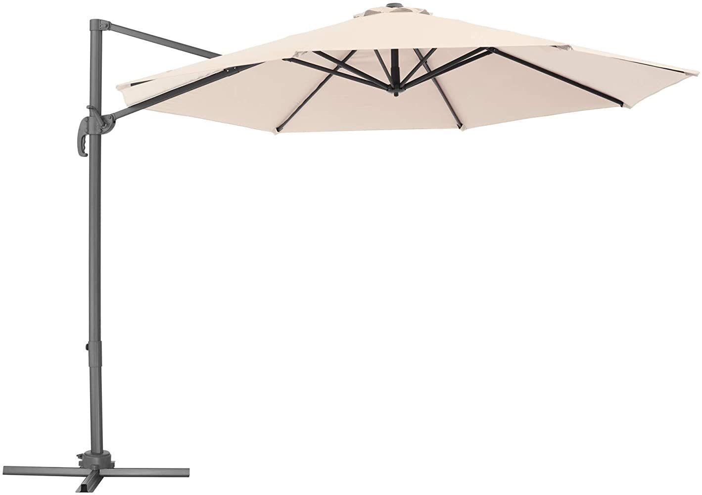 Tectake 800684 Aluminium Garten Sonnenschirm Mit Seitenmast Und