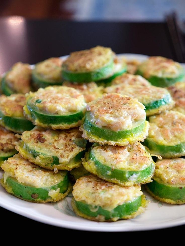 Korean fried zucchinis are extremely healthy & tasty! It's ...