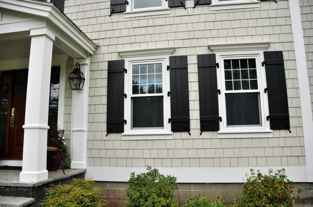 James Hardie White House Black Shutters Shutters Exterior House