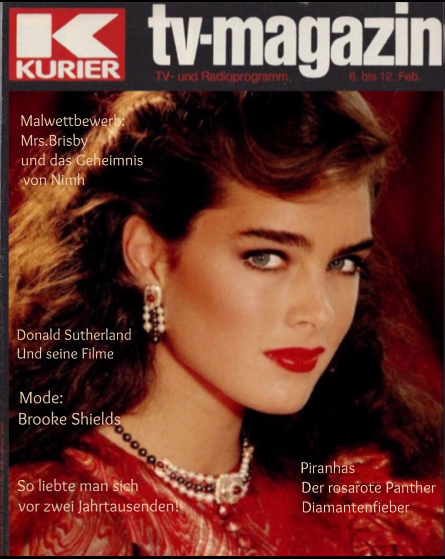 Brooke Shields covers Kurier TV Magazine  ( Germany ) February 1982