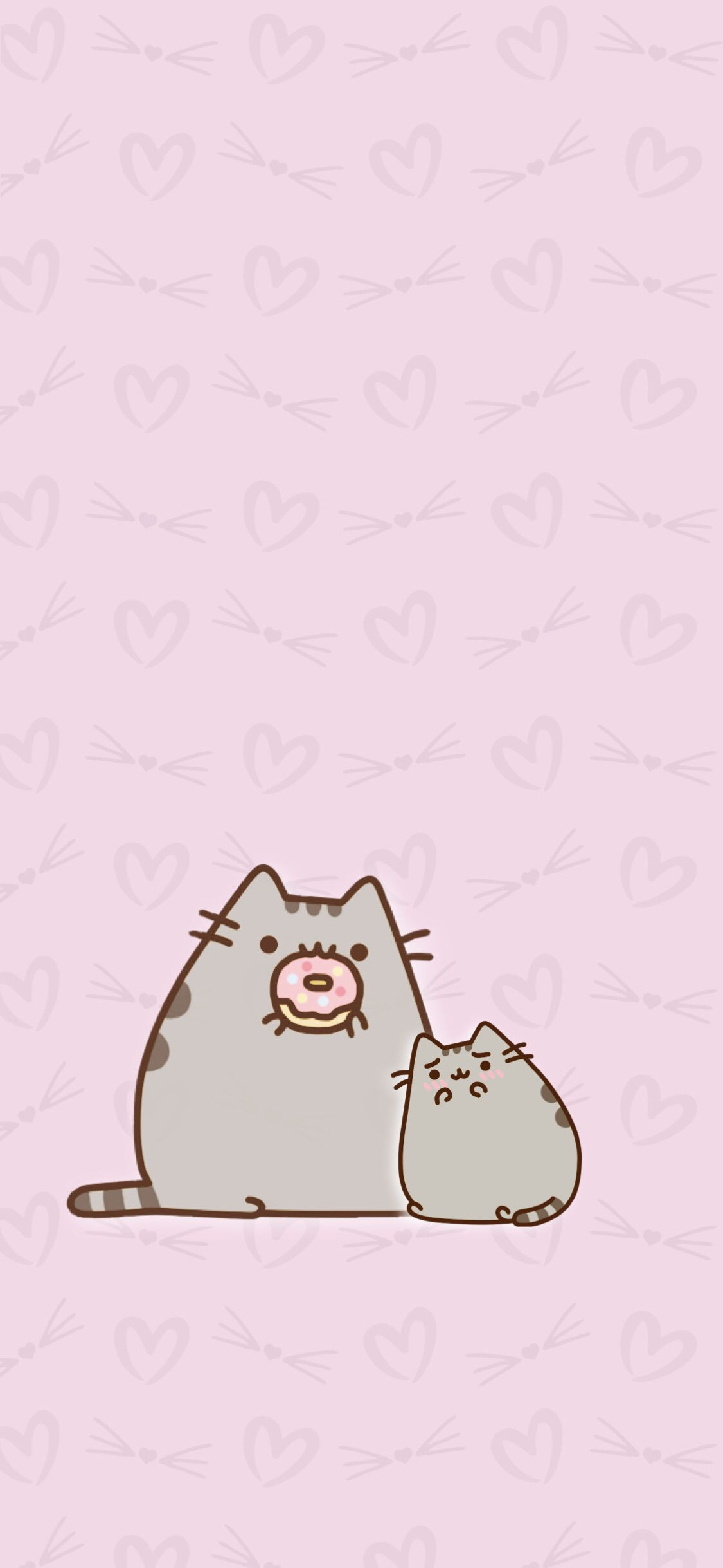 Wallpaper Background Hd Iphone Android Cute Kawaii Pusheen