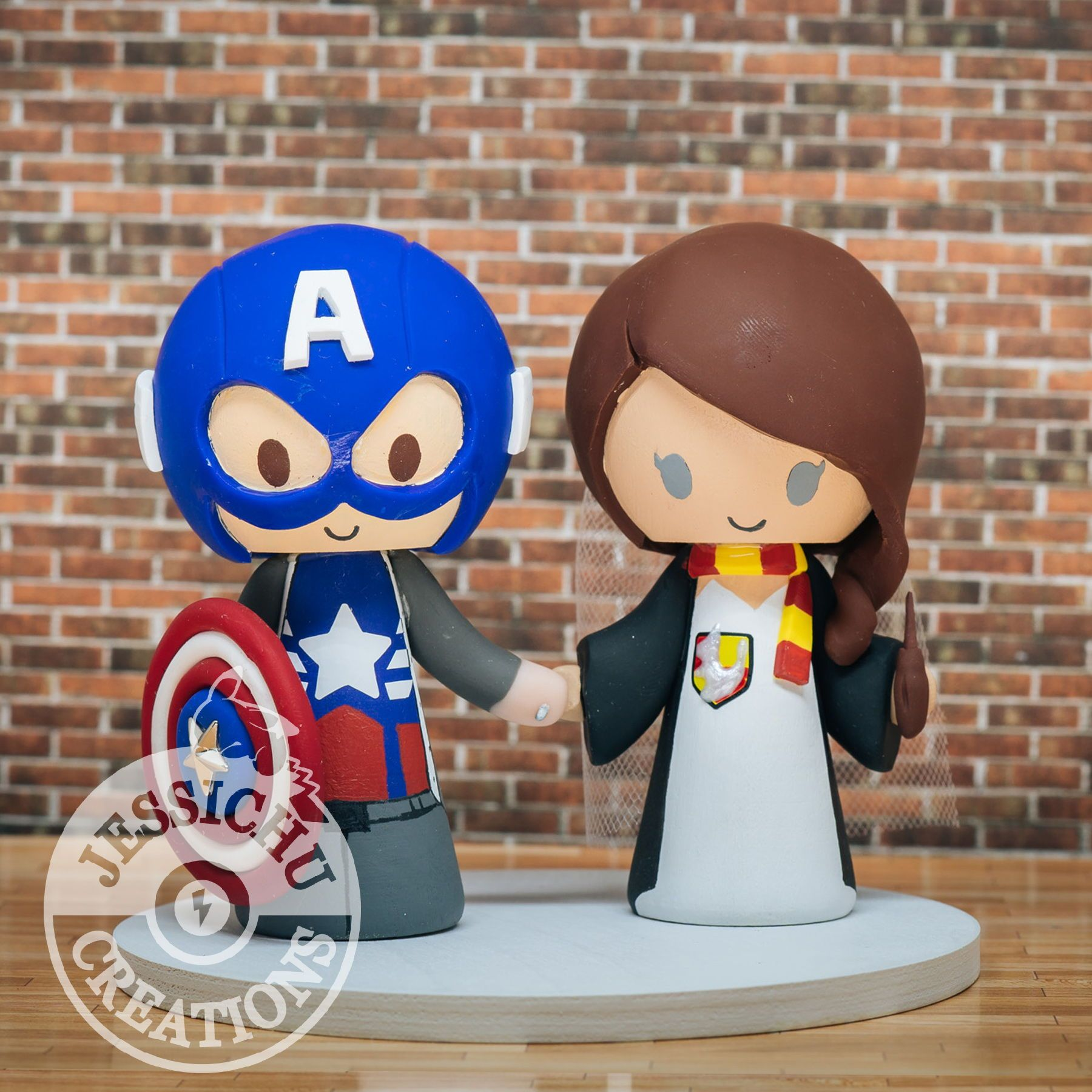 Captain america groom and gryffindor bride inspired marvel x harry