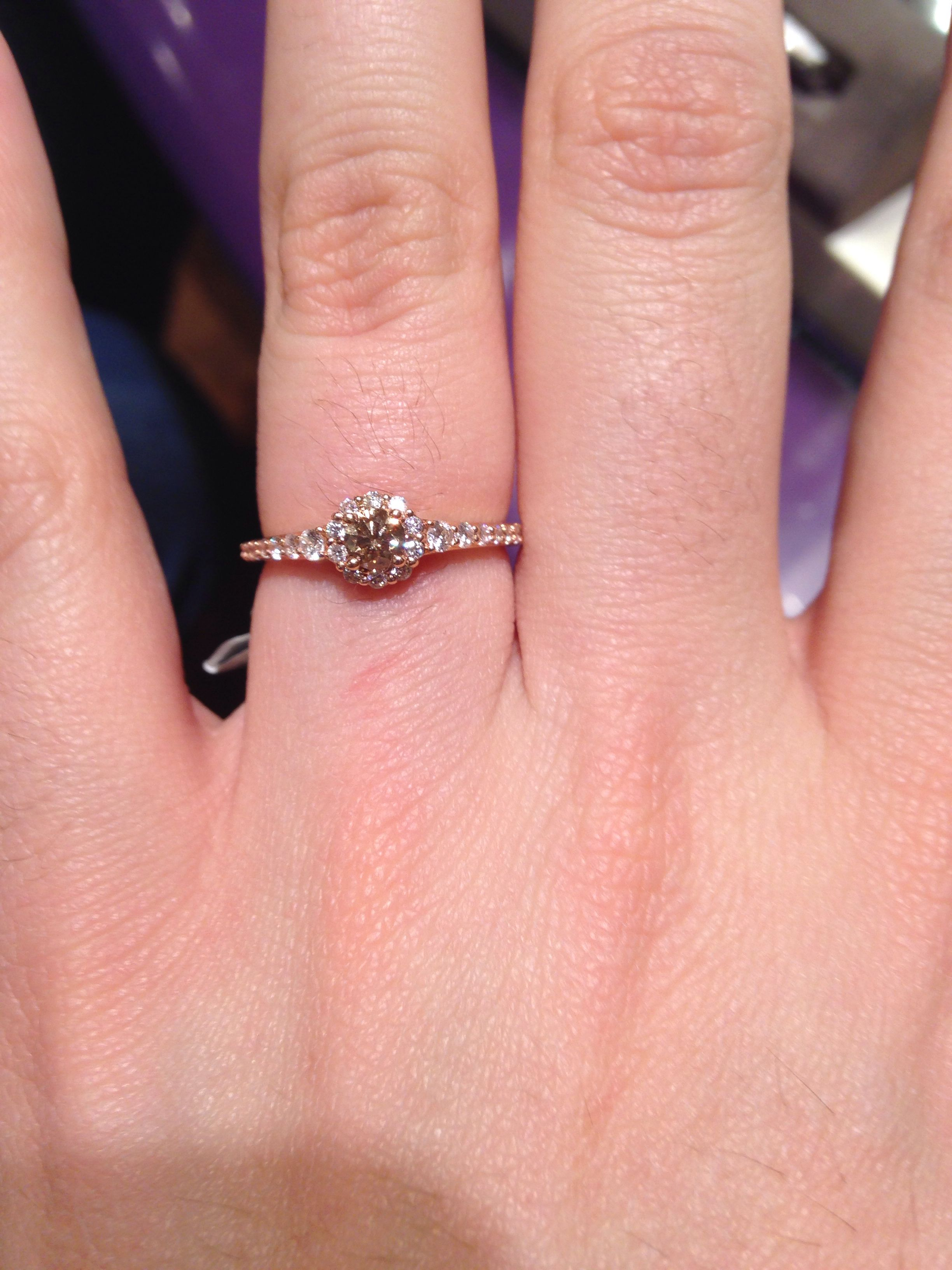 Engagement morganite ring. Small and dainty, not too much of an ...