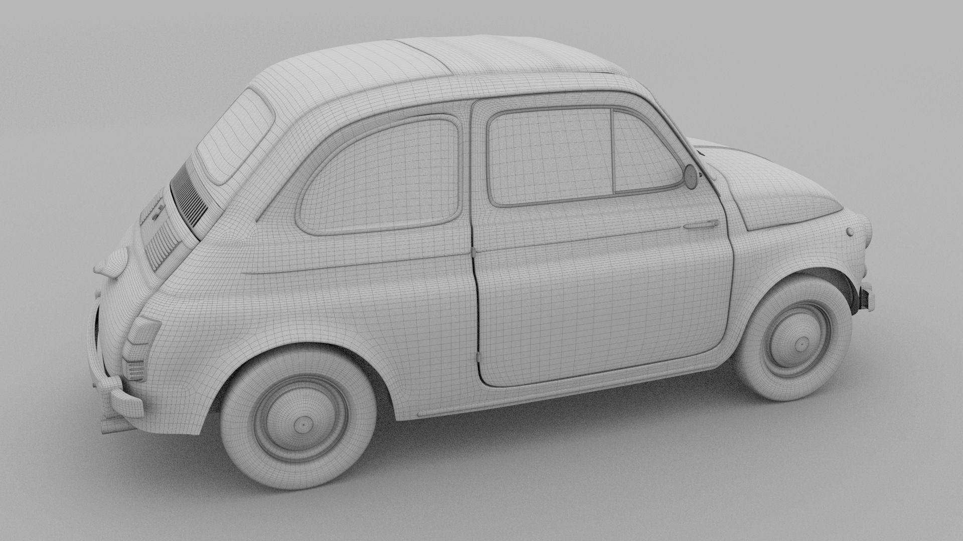 Fiat 500 Nuova 1957 With Interior Rusty Hdri Fiat 500 Fiat 500l