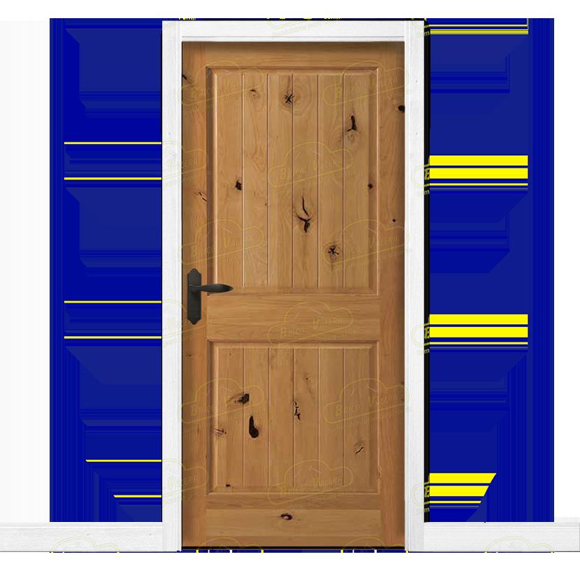Puerta interior r stica en madera maciza de pino for Puertas de madera interiores
