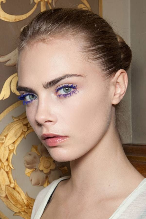 605c2c084fc Your ultimate guide to wearing Maybelline New York's new colored  mascaras--because yes, just like Cara Delevingne you can totally pull off  blue lashes