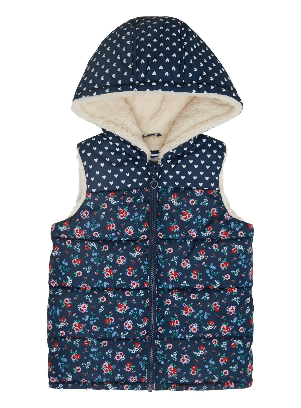 White apron sainsburys - Months 5 Years Tu At Sainsburys Girls Navy Floral Print Gilet 10