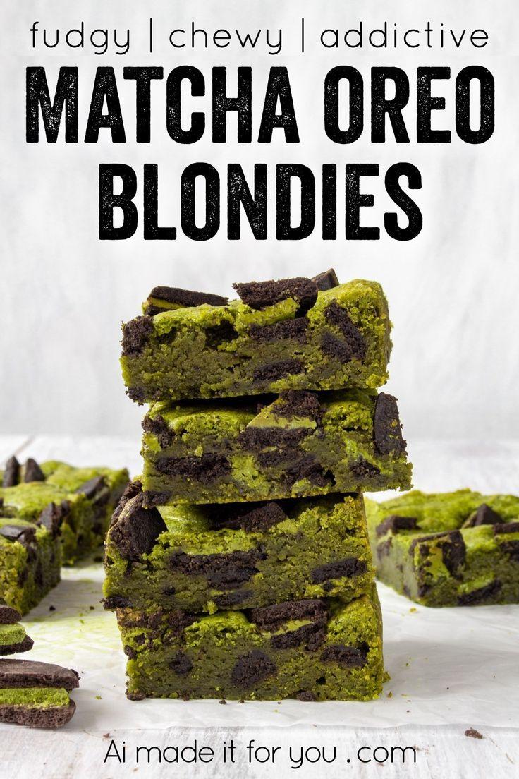 Photo of Matcha Oreo Blondies – fudgy matcha blondie recipe – Ai made it for you
