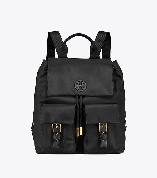 72f1575e98b6 Tory Burch Tilda Nylon Flap Backpack - Black