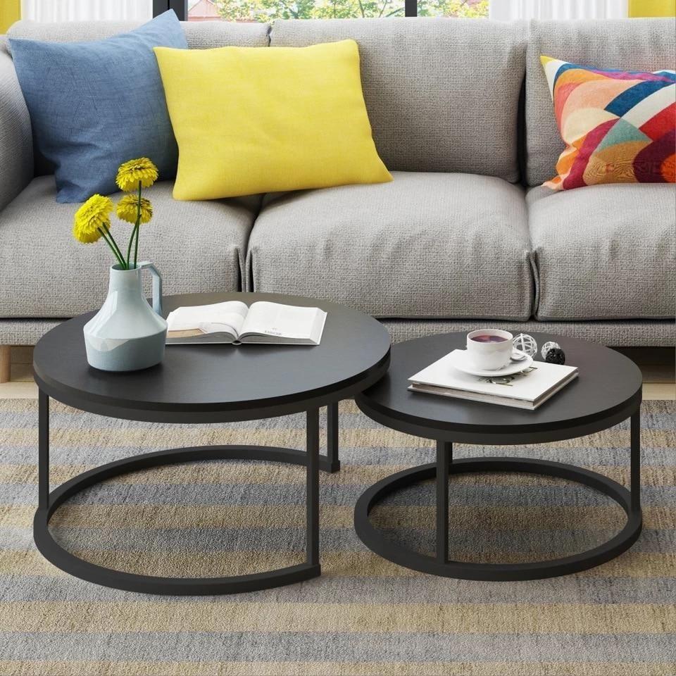 Best Benson Modern Round Coffee Table Set Round Coffee 400 x 300