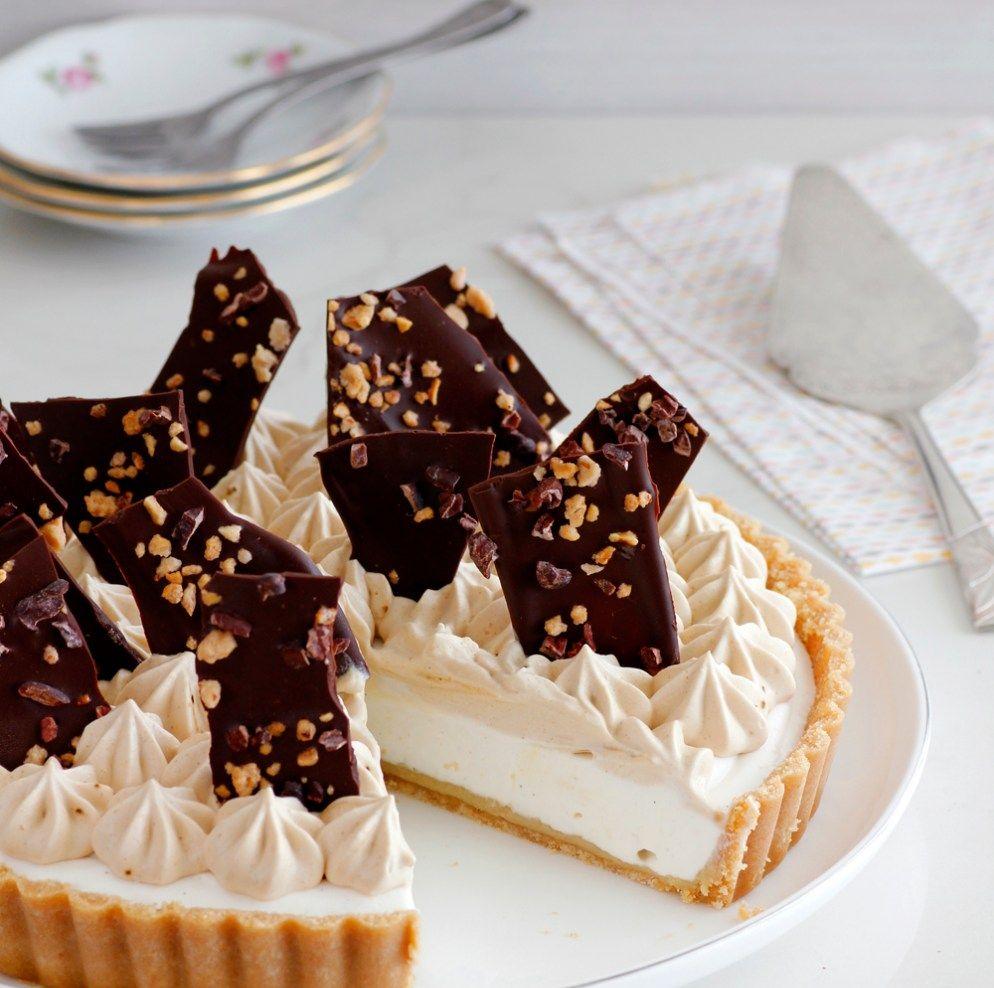 פאי גבינה, חלבה וקפה ללא אפייה Cream cheese pie, Baking
