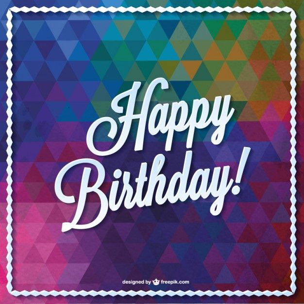 Triangle vector birthday card design Free Vector – Birthday Cards Design