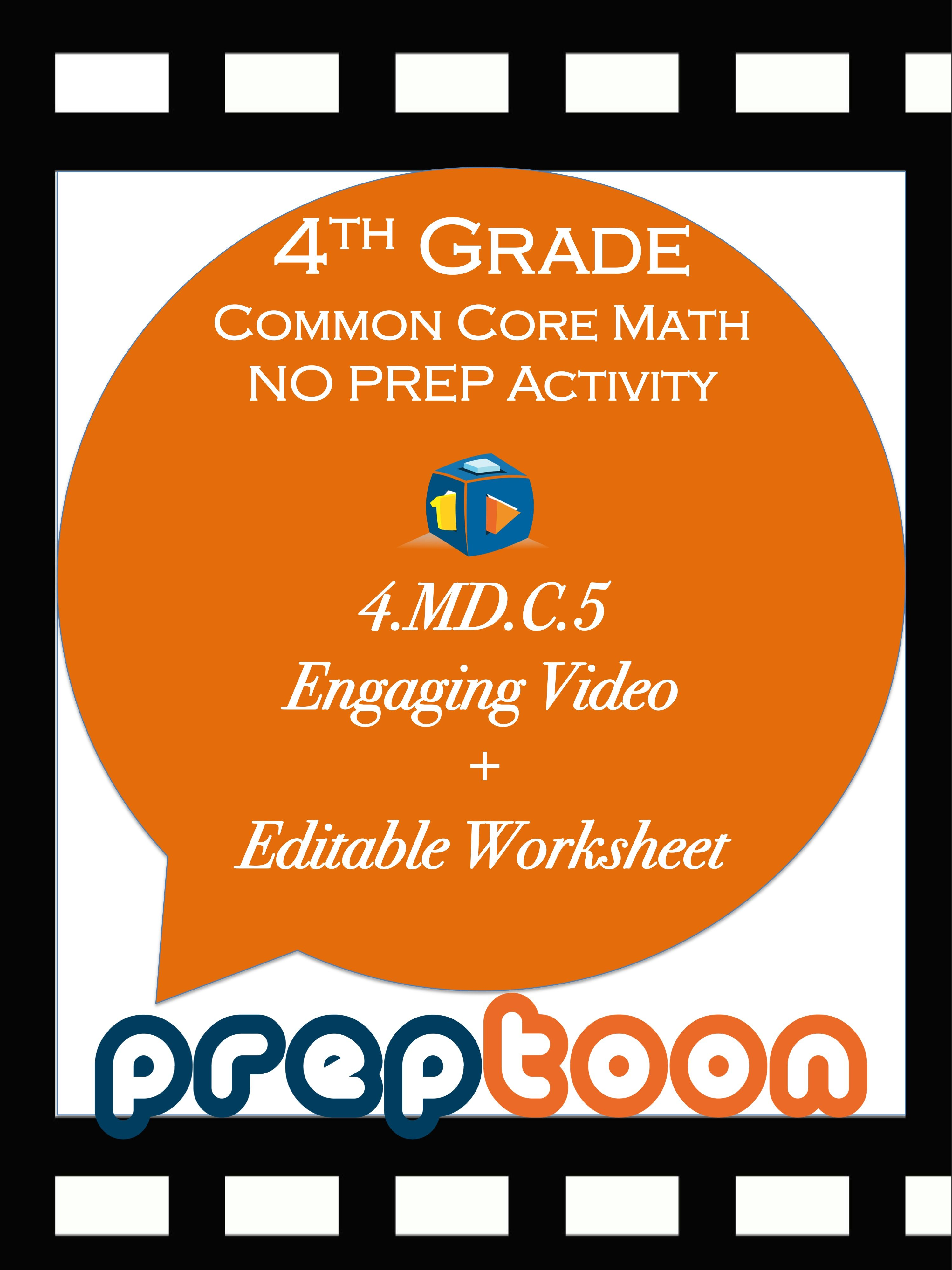 4th Grade Common Core Math Activity For Teaching Angles As