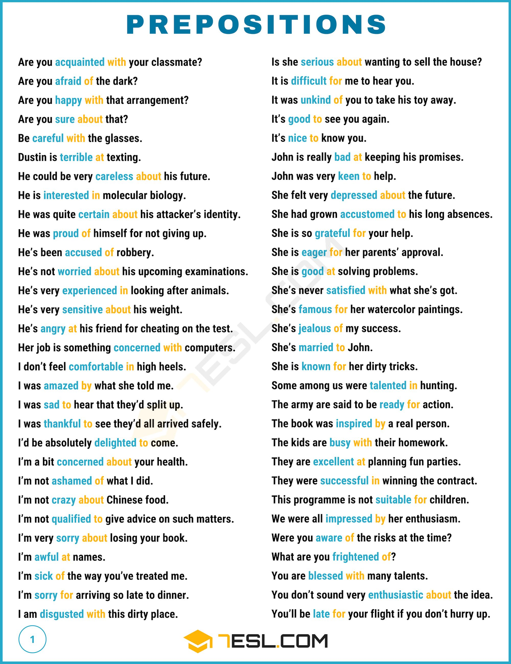 Prepositions What Is A Preposition Useful List Examples