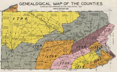 Greene County PA historic county Property Map - | Greene County