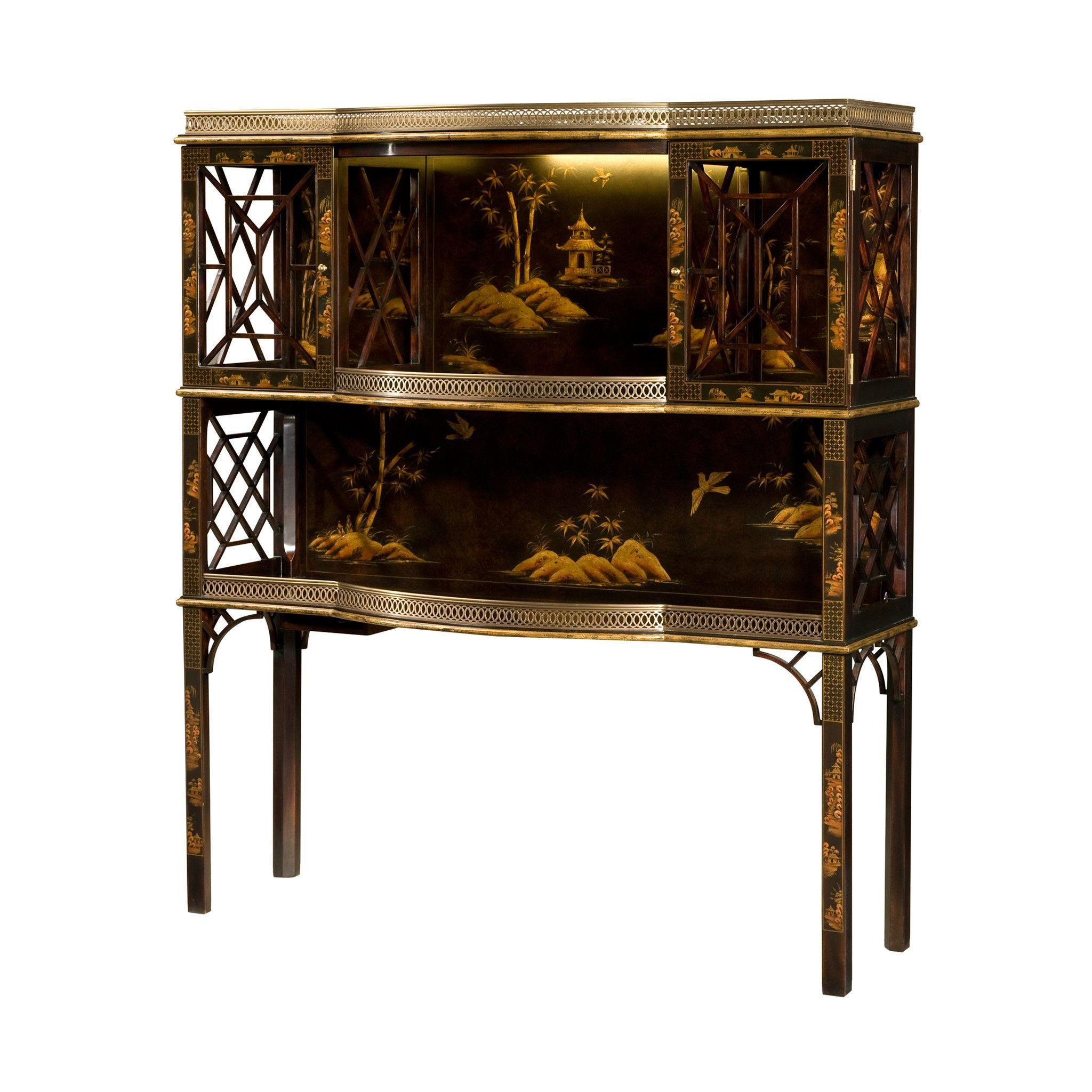 George III Chinoiserie Bar Cabinet