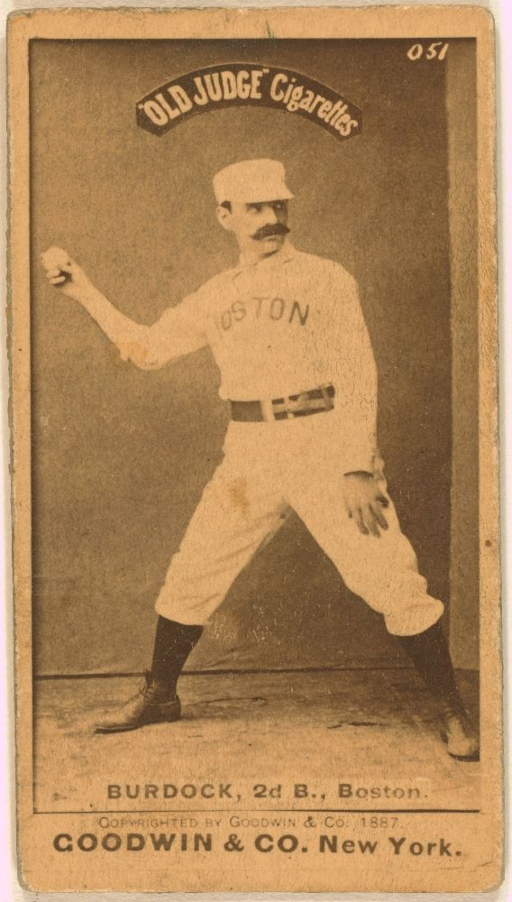 Burdock 1887 Boston Red Stockings Since The Red Sox Was Formed In