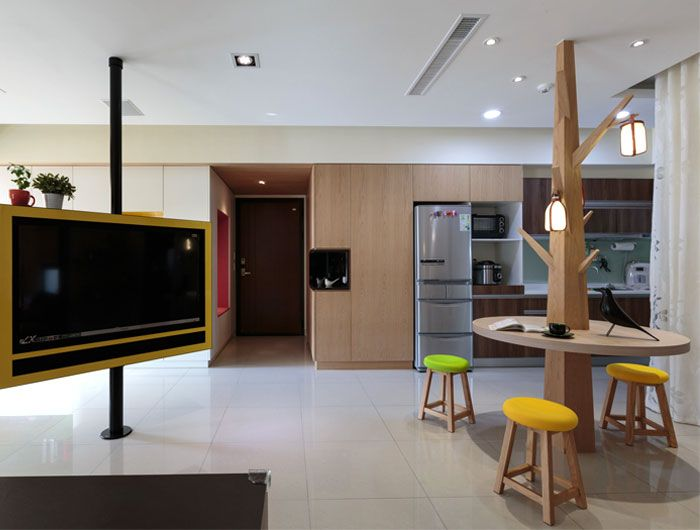Comfortable Practical and Welcoming Apartment in Taiwan unique furniture designs solutions