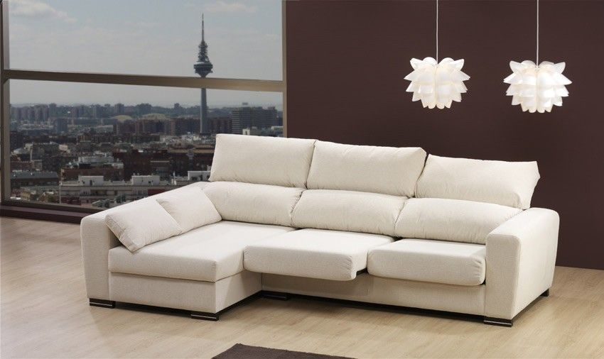 Sof con chaise longue asientos extraibles y respaldos for Sofas 3 plazas mas cheslong