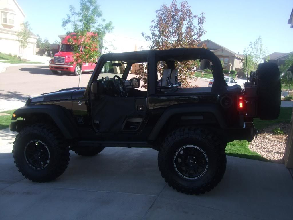 2door jeep wranglers 35s with 4 inch lift minimum lift level and