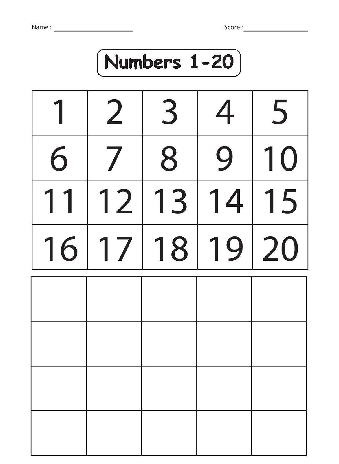 Writing Number Worksheets 1 20 Writing Numbers 20 30