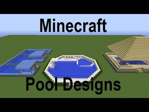 Minecraft Swimming Pool Designs And Ideas Live Commentary Minecraft Houses Pinterest