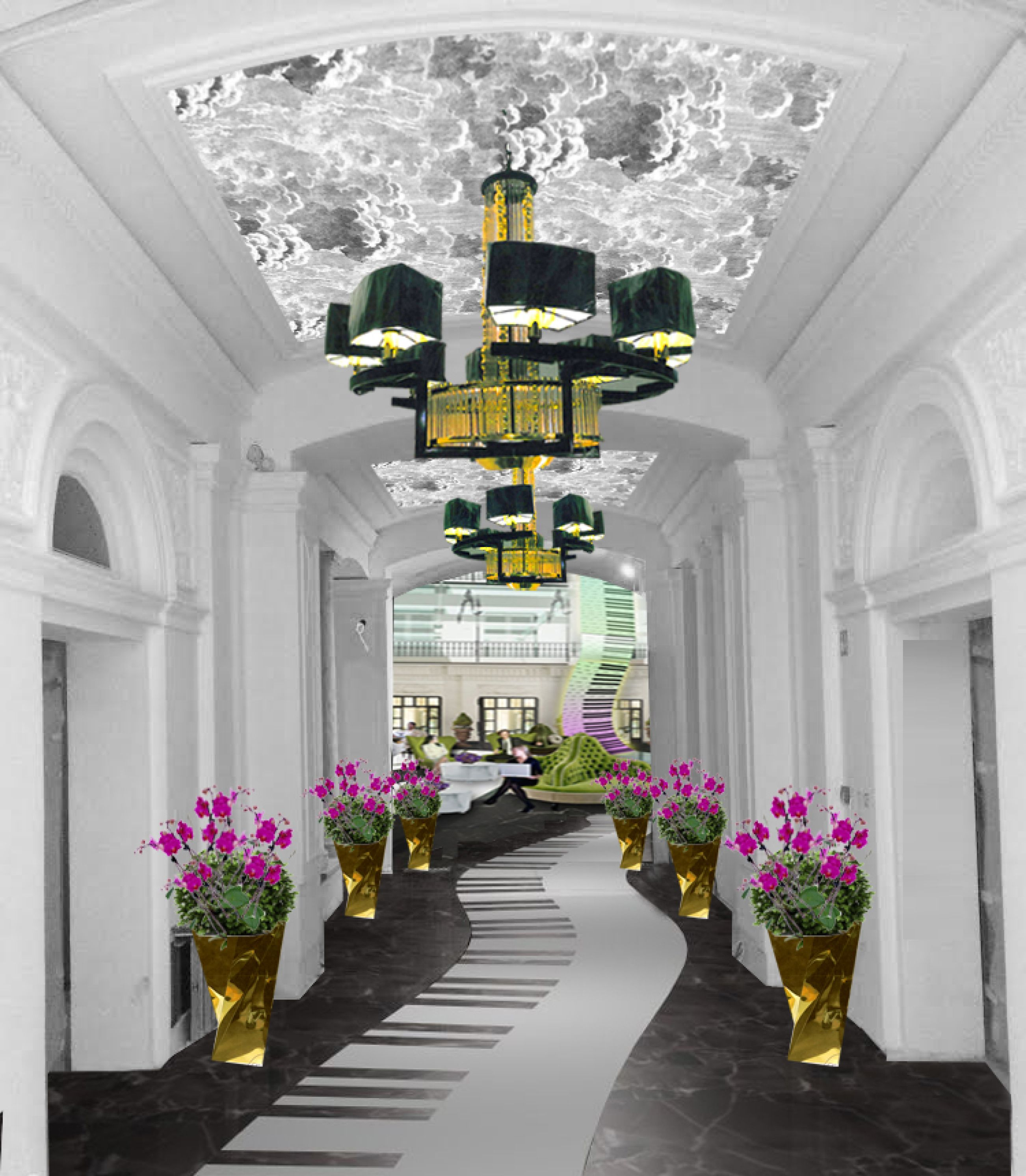 Hotel Entrance Foyer : Aria hotel budapest s grand entrance foyer concept rendering