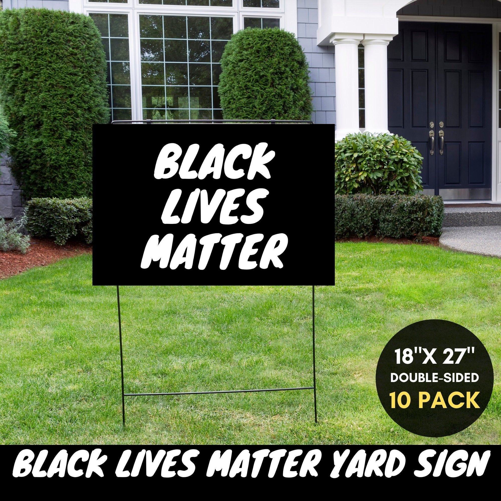Black Lives Matter Yard Sign Protest Sign Resistance Social Etsy Yard Signs Black Lives Matter Lawn Sign