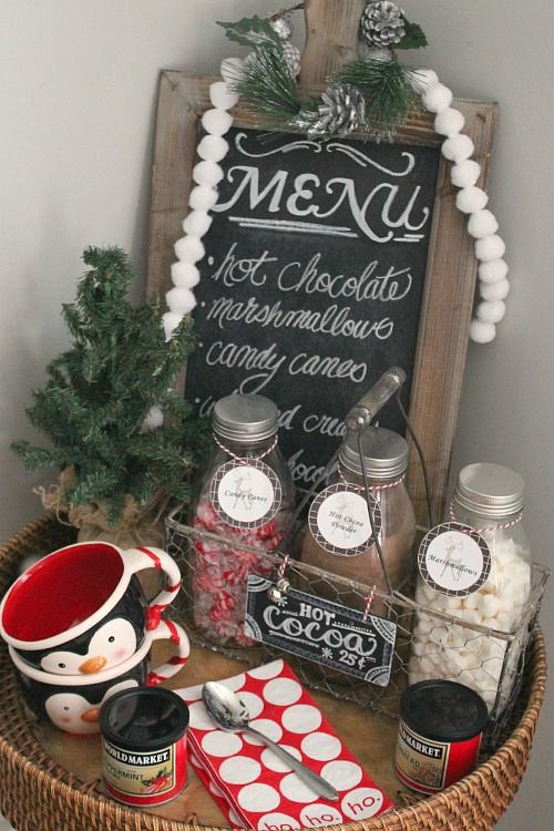 Love This Simple Hot Chocolate Bar Idea Cozy Christmas Holidays All Things
