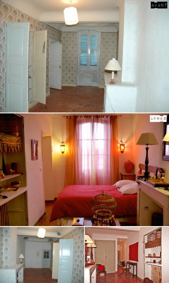 Avant-après : les chambres d'hôtes de la villa de Lorgues