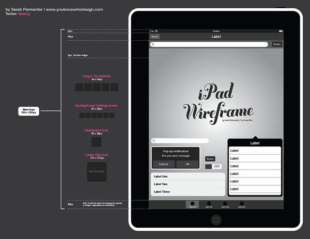 adobe illustrator toolbox for web and mobile app designers - Wireframe Ipad