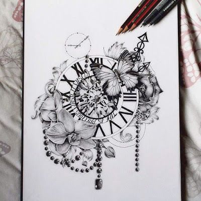 Plantillas De Tatuajes Diseños De Relojes Fondos Pinterest