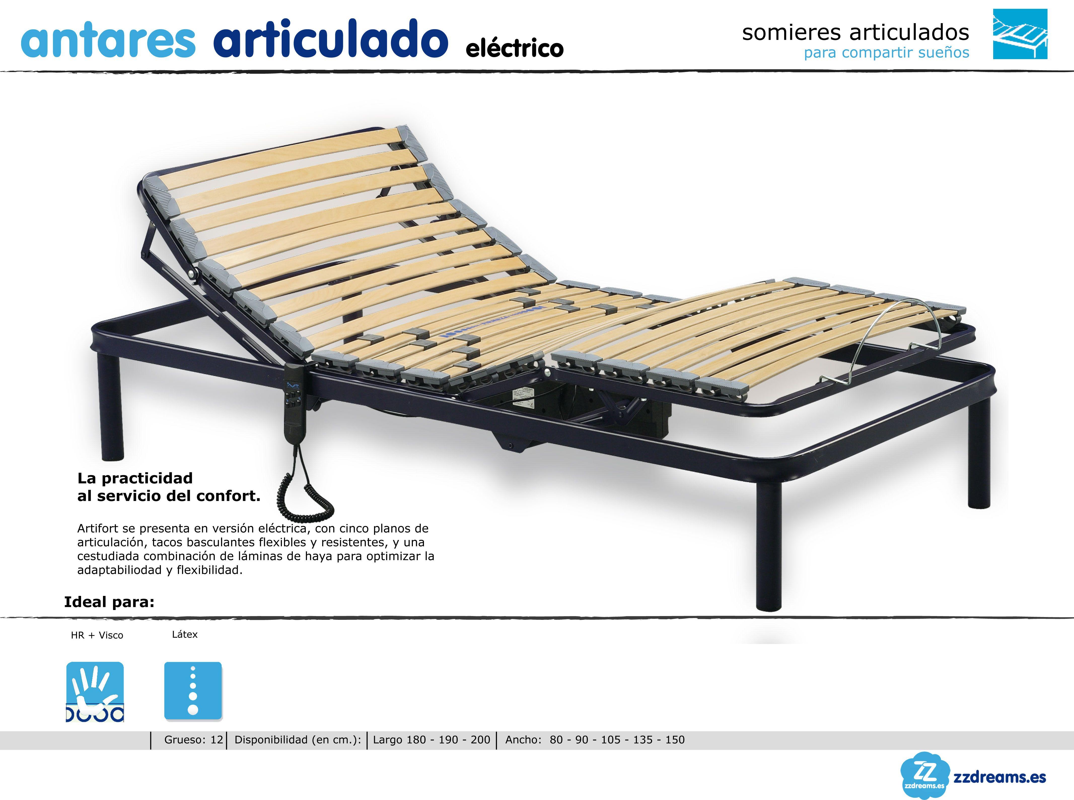 Somier articulado eléctrico Antares | Somieres y camas articuladas ...