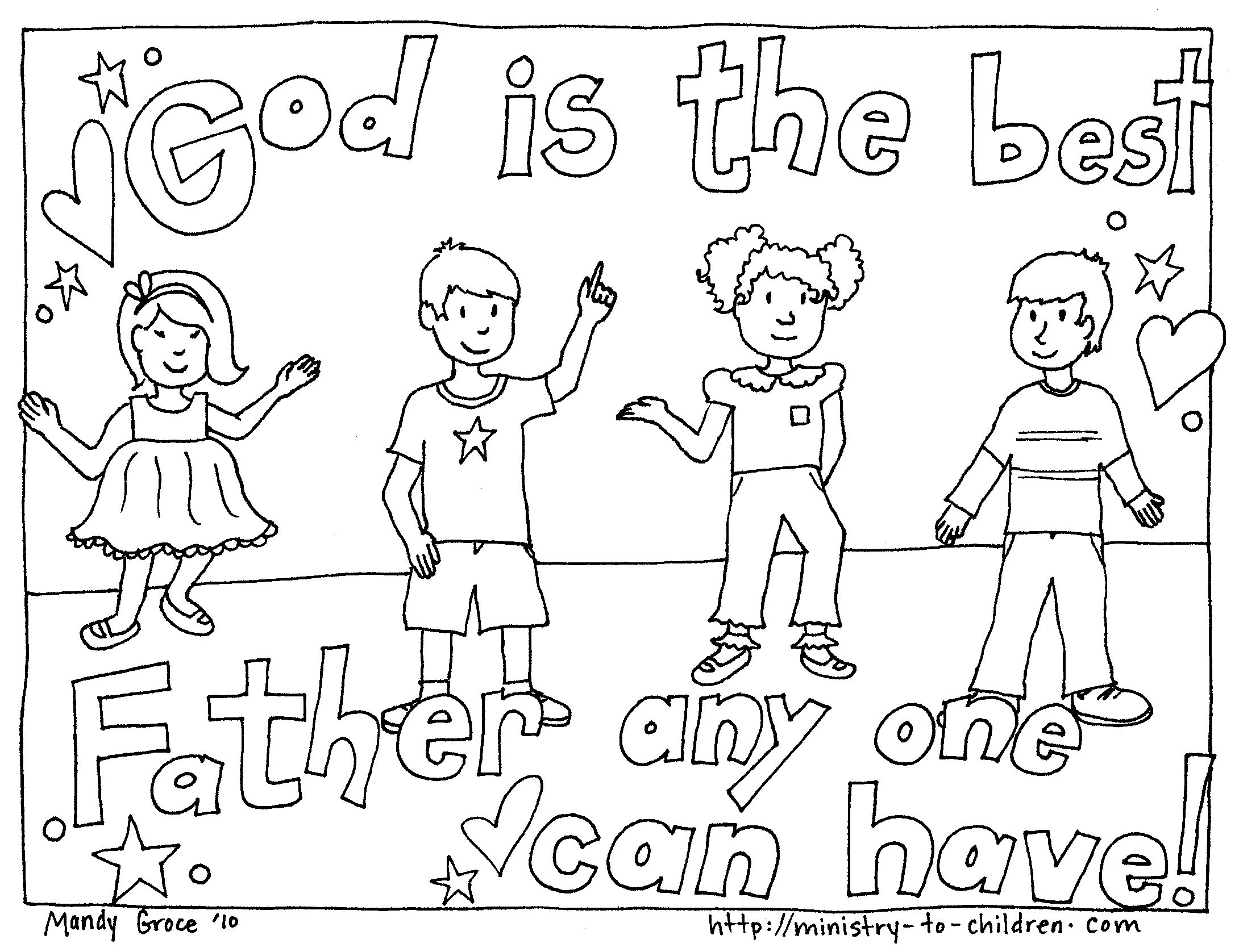 Christian Fathers Day Coloring Pages Free Large Images Nursery