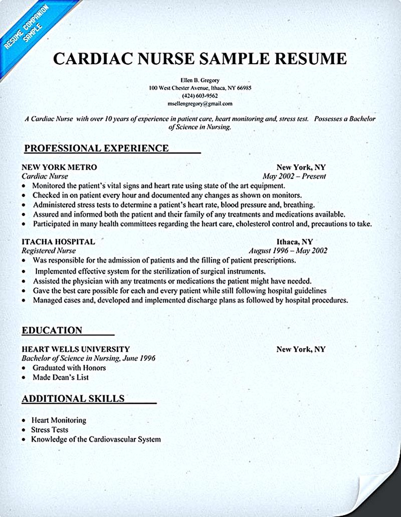 Nurse Resume Sample Nurse Resume Is What You Really Want When You