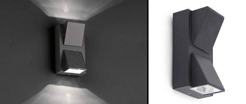 Aplique de pared kamal 2 led de faro barcelona ideal para - Iluminacion exterior led ...