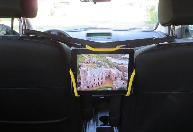 universal tablet holder design for in car rear seat entertainment kid stuff tablet holder. Black Bedroom Furniture Sets. Home Design Ideas